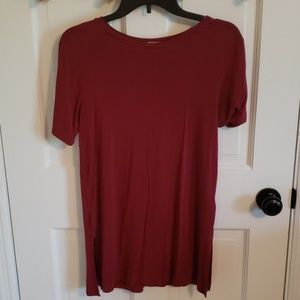 Old Navy small petite red tunic top